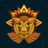 Cara geométrica del león Fotografía de archivo libre de regalías