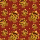 Cara geométrica del león Imagen de archivo libre de regalías