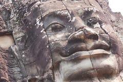 Cara gigante en el templo de Bayon Imagenes de archivo