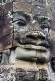Cara gigante no templo de Bayon Fotos de Stock Royalty Free