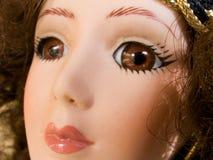 Cara gitana hermosa de la muñeca imagenes de archivo