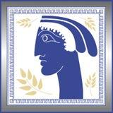 Cara griega Ilustración del Vector