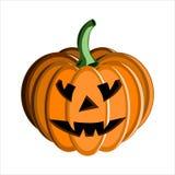 Cara Halloween de la calabaza Foto de archivo libre de regalías