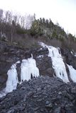 Cara helada de la roca de la mina fotografía de archivo