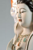 Cara hermosa de Guanyin, aislada en fondo Fotos de archivo libres de regalías