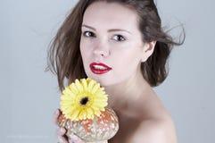 Cara hermosa de la muchacha Imagen de archivo libre de regalías