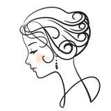 Cara hermosa de la mujer