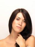 Cara hermosa de la mujer Foto de archivo