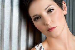Cara hermosa de la mujer Fotografía de archivo libre de regalías