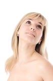 Cara hermosa de la mujer Foto de archivo libre de regalías