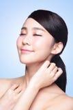 Cara hermosa de la mujer del cuidado de piel imágenes de archivo libres de regalías