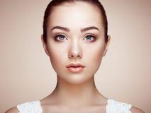 Cara hermosa de la mujer Maquillaje perfecto imagen de archivo libre de regalías