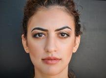 Cara hermosa de una mujer foto de archivo
