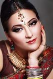 Cara india de la belleza Imagenes de archivo