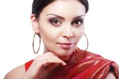 Cara india de la mujer Imagenes de archivo