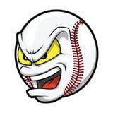 Cara irritada do basebol dos desenhos animados ilustração stock