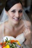 Cara joven feliz de la novia Foto de archivo