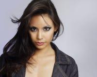 Cara joven hermosa de los modelos Fotografía de archivo libre de regalías