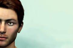 Cara masculina Imagen de archivo libre de regalías