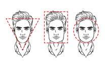 Cara masculina de diversos tipos de aspecto Fotos de archivo libres de regalías