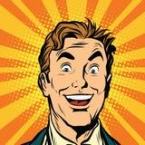 Cara masculina feliz, sorriso Fotografia de Stock Royalty Free