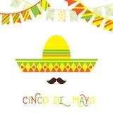 Cara mexicana con el bigote grande libre illustration