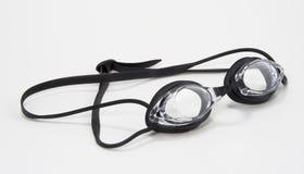Cara negra de los anteojos de la natación Imágenes de archivo libres de regalías