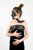 Cara negra pintada muchacha adolescente de la manera Foto de archivo