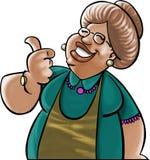 Cara nonna Fotografia Stock