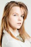 Cara nova Modelo de forma com cabelo justo imagem de stock