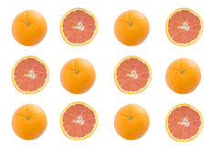Cara orange isolate on the white background,above view Royalty Free Stock Photos