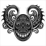 Cara ornamentado do demônio Imagens de Stock Royalty Free