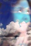 Cara oscura de las nubes foto de archivo