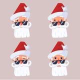 Cara Papá Noel Foto de archivo libre de regalías