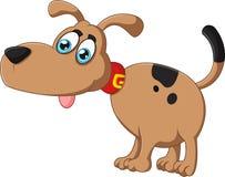 Cara parva do cão dos desenhos animados Fotografia de Stock