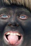 Cara pintada fotografía de archivo