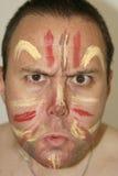 Cara pintada Fotografia de Stock