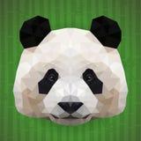 Cara poligonal de la panda Fotografía de archivo libre de regalías