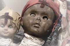Cara preta assustador da boneca Imagens de Stock Royalty Free