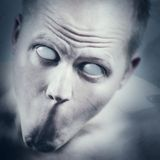Cara psica y asustadiza Fotos de archivo