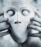 Cara psicodélica asustadiza Fotografía de archivo