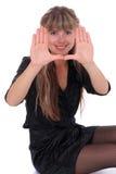 Cara que enmarca sonriente de la muchacha Foto de archivo libre de regalías