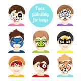Cara que pinta 2 stock de ilustración