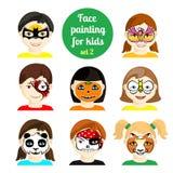 Cara que pinta 8 ilustración del vector