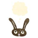 cara retra del conejo de la historieta Fotos de archivo libres de regalías