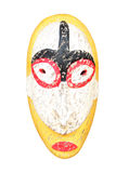 Cara ritual tallada de madera estatua Fotos de archivo libres de regalías