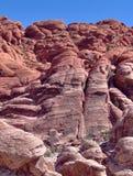 Cara roja de la roca de la barranca de la roca Foto de archivo libre de regalías