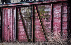 Cara roja del granero Fotos de archivo