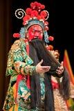 Cara roja del hombre de la ópera de China Imagen de archivo libre de regalías