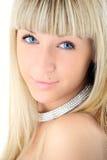 Cara rubia del primer de la muchacha de la belleza imagen de archivo libre de regalías